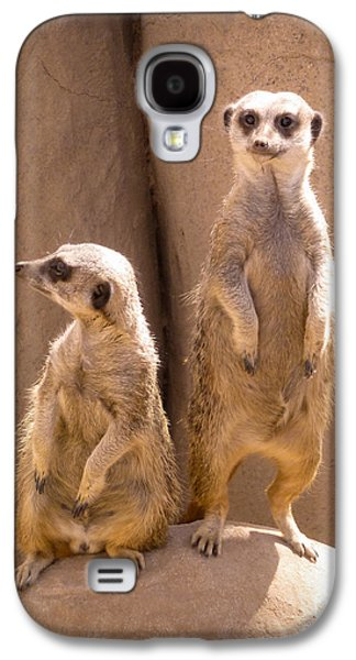 Couple Of Meerkats Galaxy S4 Case by Methune Hively