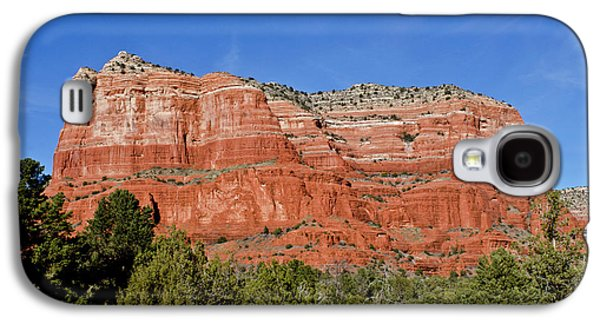 Courthouse Butte Ribboned Red Rocks Galaxy S4 Case by Jan and Stoney Edwards