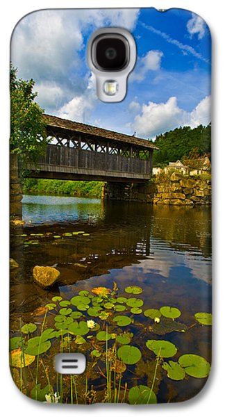 Covered Bridge Across A River, Vermont Galaxy S4 Case by Panoramic Images