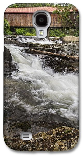 Covered Bridge And Waterfall Galaxy S4 Case by Edward Fielding