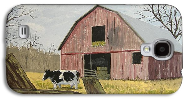 Cow And Barn Galaxy S4 Case by Norm Starks