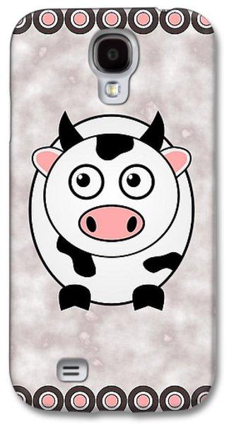 Cow - Animals - Art For Kids Galaxy S4 Case