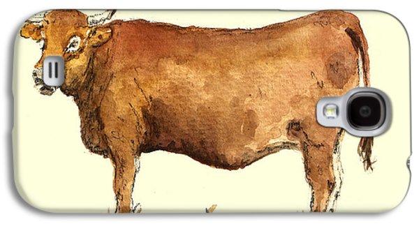 Cow Galaxy S4 Case - Cow by Juan  Bosco