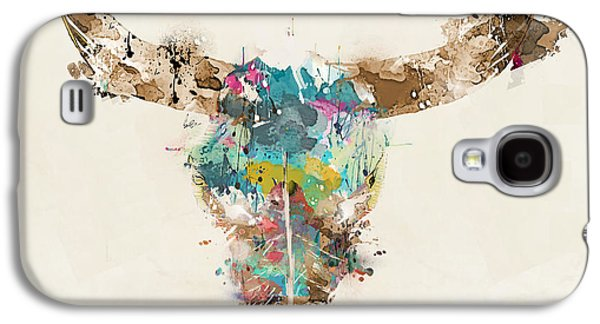 Bull Galaxy S4 Case - Cow Skull by Bri Buckley