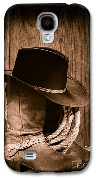 Cowboy Hat And Boots Galaxy S4 Case by Olivier Le Queinec