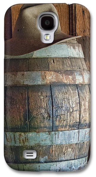 Cowboy Hat On Old Wooden Keg Galaxy S4 Case