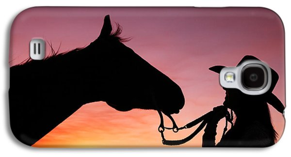 Horse Galaxy S4 Case - Cowgirl Sunset by Todd Klassy
