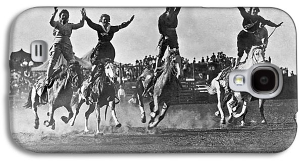 Cowgirls At The Rodeo Galaxy S4 Case by Underwood Archives