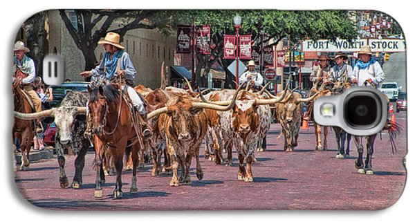 Cowtown Cattle Drive Galaxy S4 Case by David and Carol Kelly