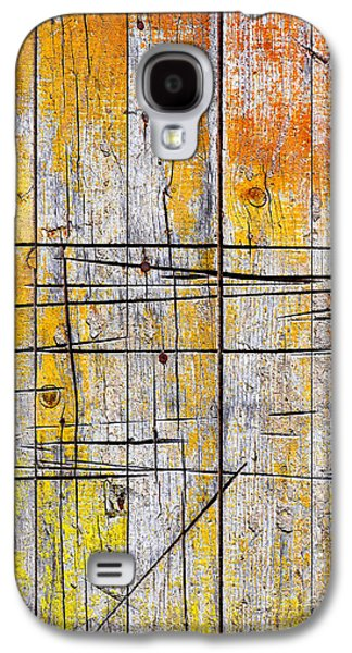 Cracked Wood Background Galaxy S4 Case by Carlos Caetano