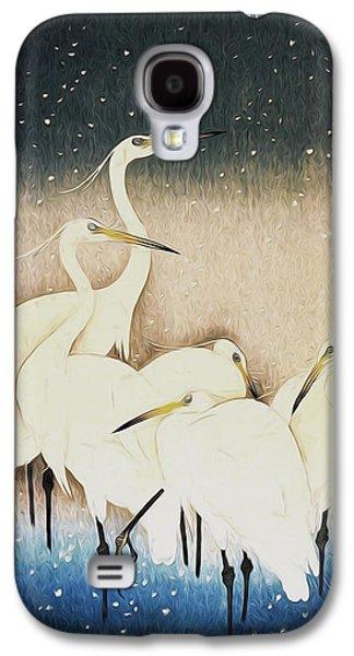 Cranes  Galaxy S4 Case by Shanina Conway