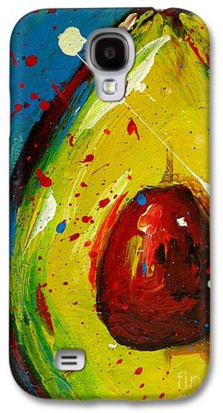 Crazy Avocado 4 - Modern Art Galaxy S4 Case by Patricia Awapara