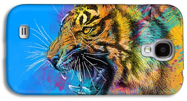 Crazy Tiger Galaxy S4 Case by Olga Shvartsur