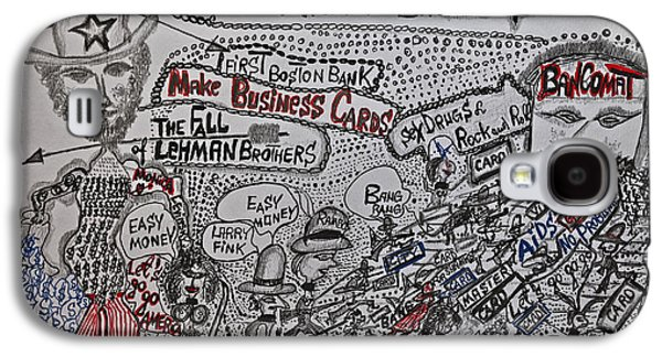 Credit Card Cult And New Religion Tribute To Wall Street Mammona Heroes And Ocean Sharks Galaxy S4 Case by  Andrzej Goszcz