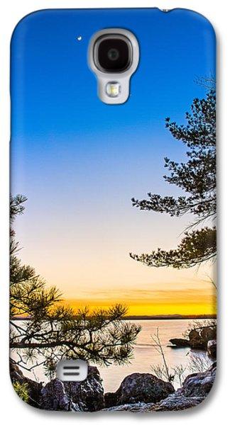 Crescent Moon Sunset Galaxy S4 Case