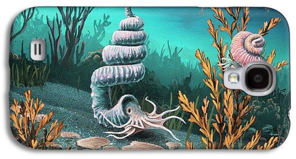 Cretaceous Heteromorph Ammonites Galaxy S4 Case by Richard Bizley
