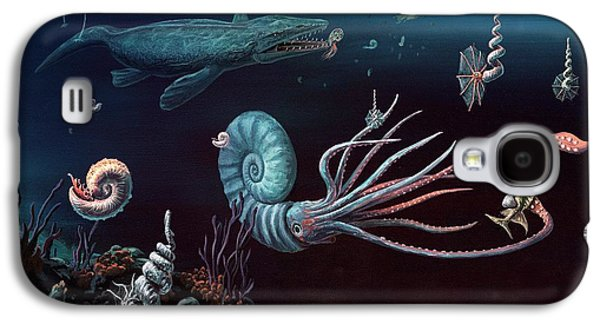 Cretaceous Marine Animals Galaxy S4 Case by Richard Bizley
