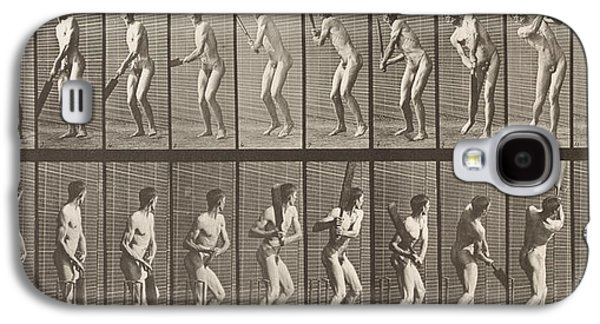 Cricketer Galaxy S4 Case by Eadweard Muybridge
