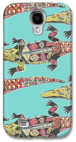 Crocodile Blue Galaxy S4 Case by Sharon Turner