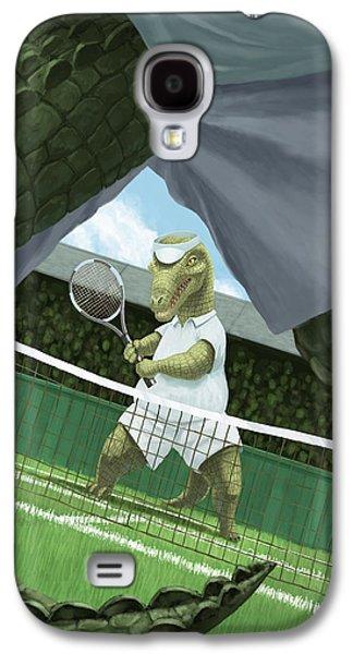 Crocodiles Playing Tennis At Wimbledon  Galaxy S4 Case by Martin Davey