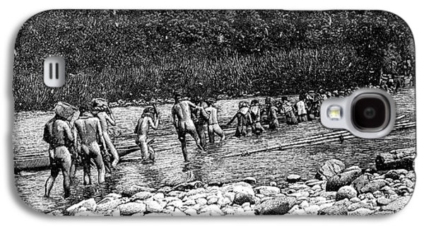 Crossing A River In Vietnam Galaxy S4 Case by Science Photo Library
