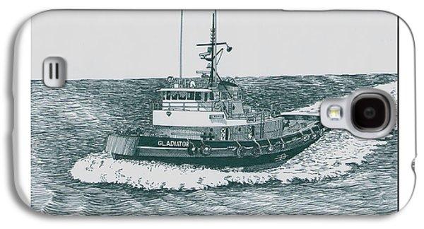 Crowley Tugboat Ocean Going Gladiator Galaxy S4 Case