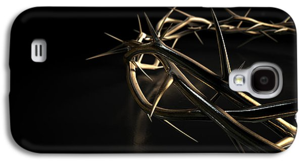 Crown Of Thorns Gold On Black Galaxy S4 Case