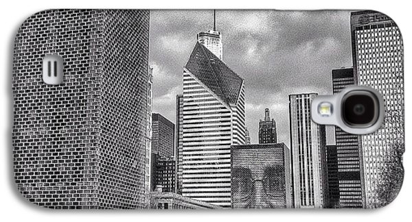Chicago Crown Fountain Black And White Photo Galaxy S4 Case