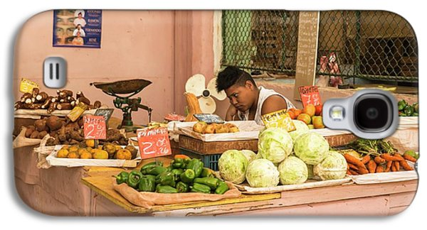 Cuban Market Stall Galaxy S4 Case by Peter J. Raymond