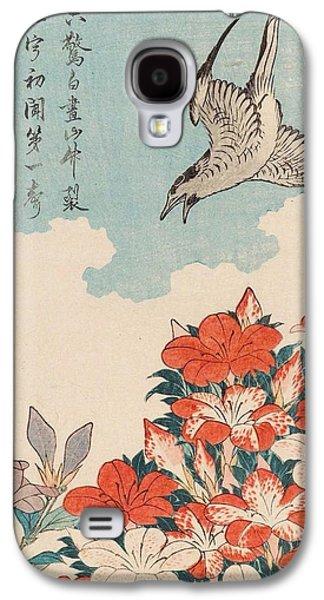 Cuckoo Galaxy S4 Case - Cuckoo And Azaleas by Katsushika Hokusai