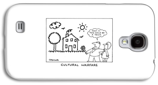 Cultural Warfare Galaxy S4 Case by Charles Barsotti