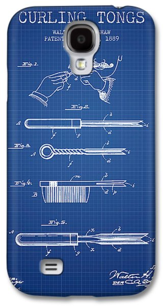 Curling Tongs Patent From 1889 - Blueprint Galaxy S4 Case by Aged Pixel