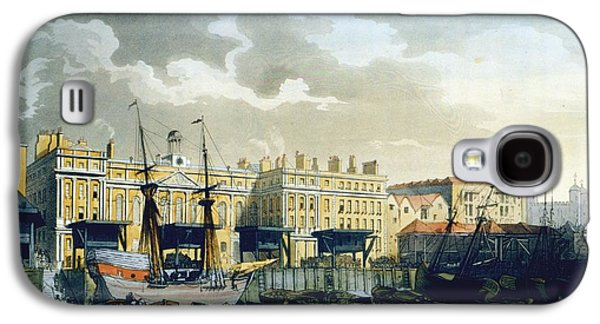 Custom House From The River Thames Galaxy S4 Case by T. & Pugin, A.C. Rowlandson