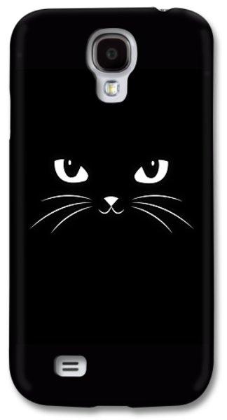 Cute Black Cat Galaxy S4 Case