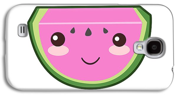 Cute Watermelon Illustration Galaxy S4 Case by Pati Photography