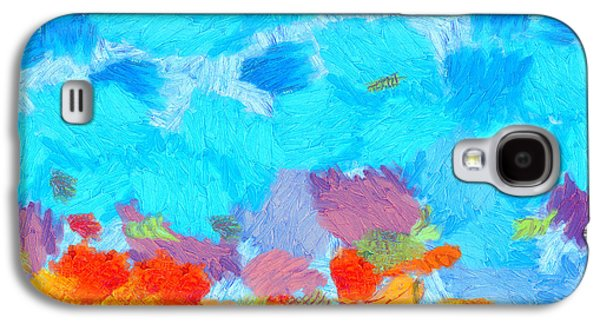 Cyan Landscape Galaxy S4 Case by Pixel Chimp