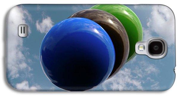 Cyanogen Chloride Molecule Galaxy S4 Case by Indigo Molecular Images