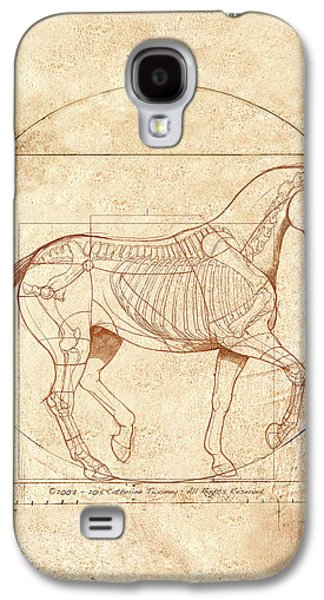 da Vinci Horse in Piaffe Galaxy S4 Case by Catherine Twomey