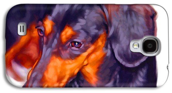 Dachshund Art Galaxy S4 Case by Iain McDonald