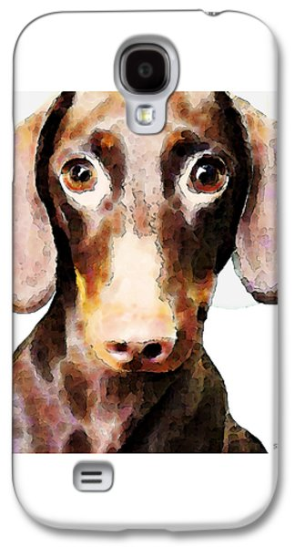 Dachshund Art - Roxie Doxie Galaxy S4 Case