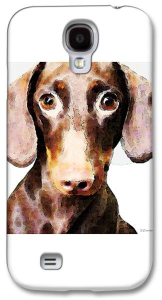 Dachshund Art - Roxie Doxie Galaxy S4 Case by Sharon Cummings