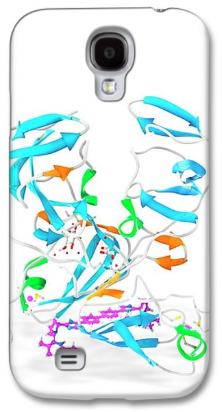 Daclatasvir And Ns5a Protein Complex Galaxy S4 Case by Ramon Andrade 3dciencia