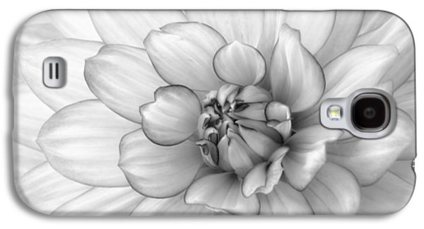 Dahlia Flower Black And White Galaxy S4 Case