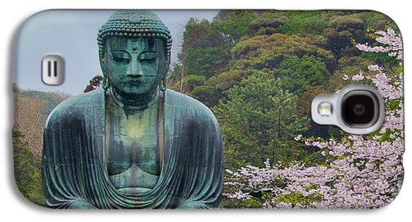 Cherry Blossoms Galaxy S4 Cases - Daibutsu Buddha Galaxy S4 Case by Alan Toepfer