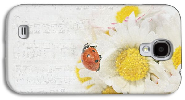 Daisies And Ladybug Galaxy S4 Case