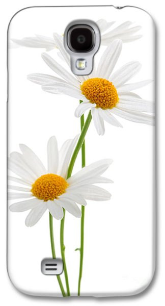 Daisies On White Background Galaxy S4 Case