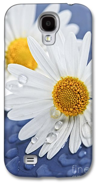 Daisy Flowers With Water Drops Galaxy S4 Case
