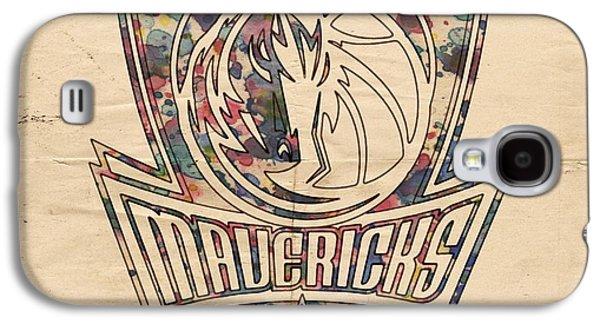 Dallas Mavericks Poster Art Galaxy S4 Case by Florian Rodarte
