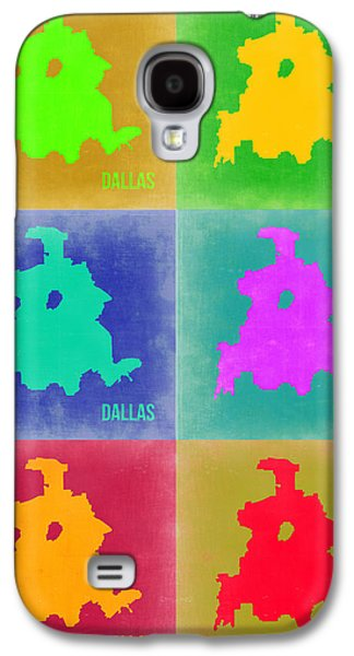 Dallas Pop Art Map 3 Galaxy S4 Case by Naxart Studio