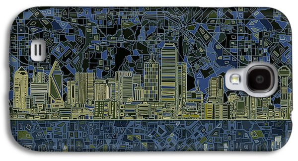 Dallas Skyline Abstract 2 Galaxy S4 Case